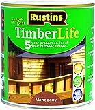 Rustins TLMA1000 - Barniz de protección para madera en exterior (1 L), color caoba