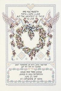 Janlynn Cross Stitch Kit, 17-Inch by 12-Inch, Wedding Doves