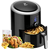Habor Air Fryer XL, 5.8QT Oilless Air Fryer Oven, 7 Cooking Presets Electric Hot Air Cooker with Heat Preservation Function, Digital Touch Screen, Detachable Basket Dishwasher Safe, Recipes Included