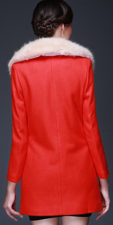 Youhan Womens Winter Woolen Overcoat