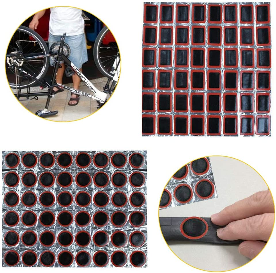 Emergency Puncture Repair Kit Bike Bicycle Inner Tube Flat Tyre Patches Cycle