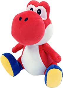 """Little Buddy 1389 Super Mario All Star Collection Red Yoshi Plush, 7"""""""