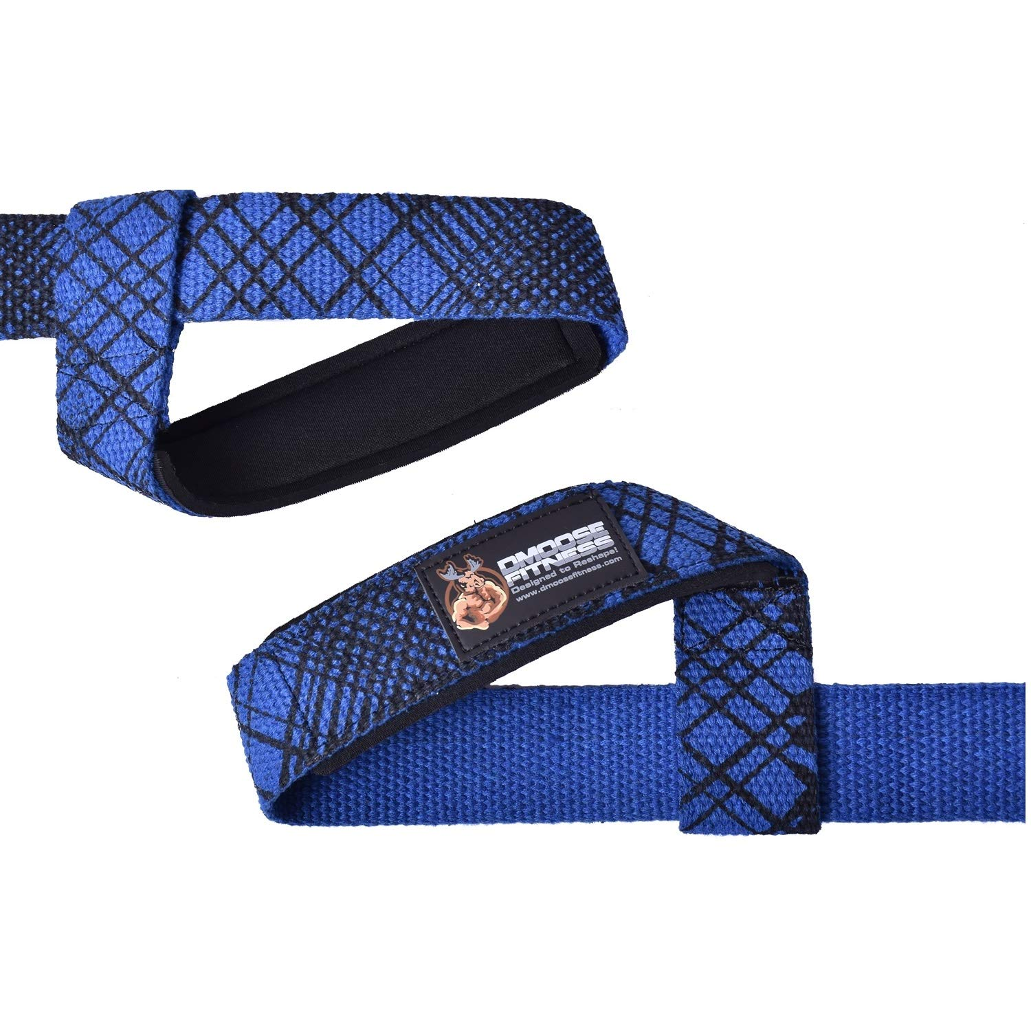 Reinforced Stitching DMoose Fitness Lifting Straps Neoprene Padding Non-Slip Support Secure your Grip by Maximizing Weightlifting Premium Quality Strength Powerlifting Adjustment loop Pair
