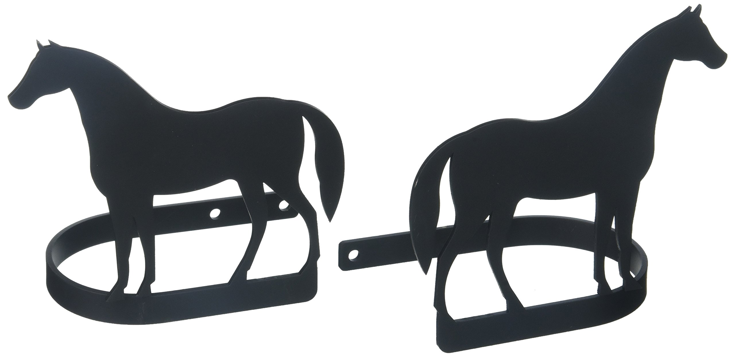 Village Wrought Iron 5.25 Inch Standing Horse Curtain Tie Backs