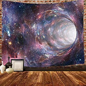 Simsant Psychedelic Star Tapestry Mysterious Starry Black Hole Fun Galaxy Purple Star Series Meditation Chakra Wall Tapestry 80x60inch Astrology Meditation Bedroom Psychedelic Home Decor GTHXSI386