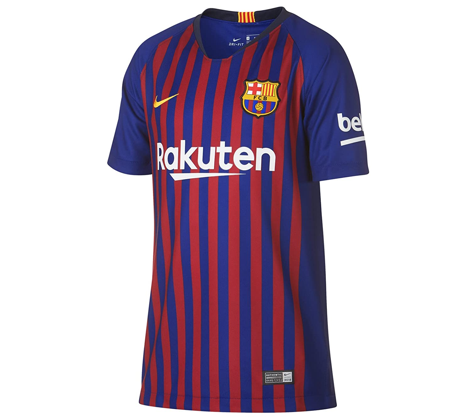 3a35c000b Amazon.com: Nike Messi #10 FC Barcelona Home Youth Soccer Jersey 2018-19:  Clothing