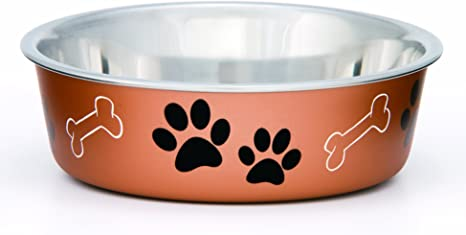 Loving Pets Coastal Bella Bowl for Dogs Large Aqua Sea