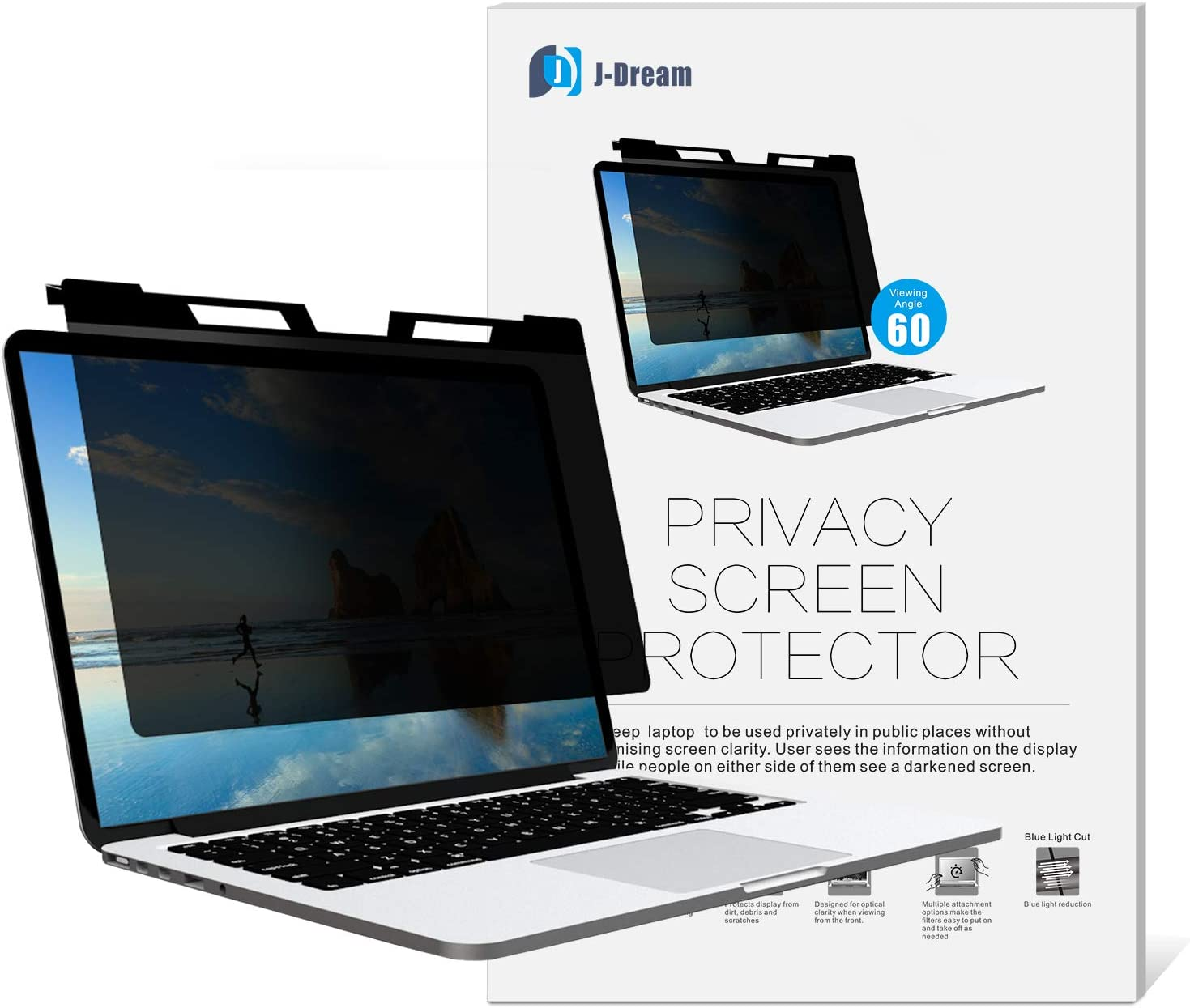 Hanging 14 Inch Privacy Screen for Widescreen Laptop (16:9 Aspect Ratio)