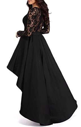 CICIDES Women Formal Lace Floral Print High Low Maxi Evening Party Dresses(S-XL) at Amazon Womens Clothing store: