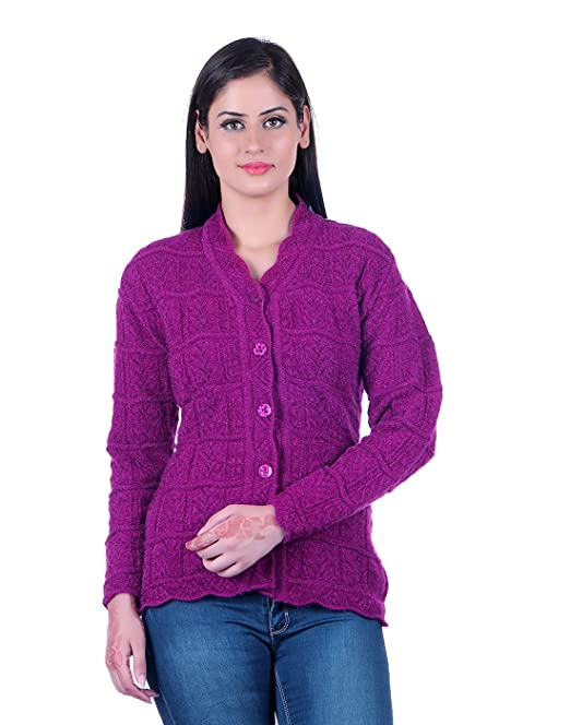 eWools Women\u0027s/Ladies/Girls Woolen Winter wear Cardigan (Self Design)
