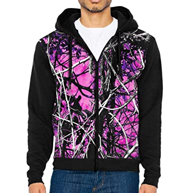 ee6e9862cc9a ZMban Men s Muddy Girl Camo Pink 3D Custom Full-Zip Hoodie with Pocket Hooded  Sweatshirt