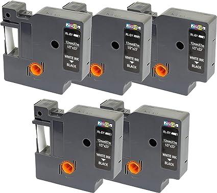 2 Nastri D1 45013 nero su bianco 12mm x 7m Etichette compatibili per DYMO LabelManager LM 100 150 160 200 210D 260 280 300 350 350D 360D 400 420P 450 500TS PC PC2 PnP LabelWriter LW 400 450 Duo