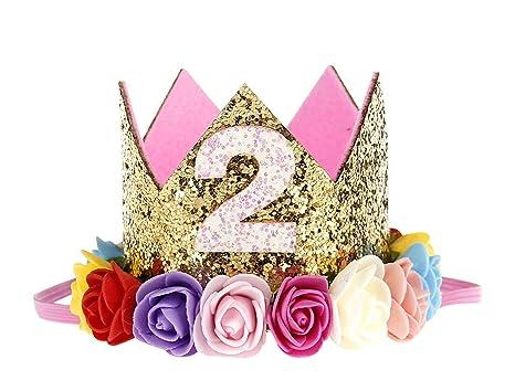 Avitalk diadema bebé niña niño nacimiento cumpleaños corona ...