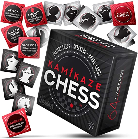 Kamikaze Chess: The Crazy Variant Travel Card Game