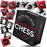 Kamikaze Chess Card Game + Checkers + Board + Variations! 64 Playing Cards, Pocket Sized Travel Deck