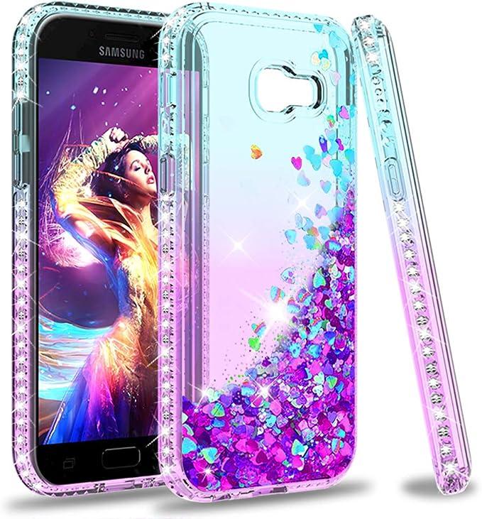 LeYi Coque pour Samsung Galaxy A5 2017 Coque de protection en silicone TPU pour fille et femme Motif transparent