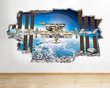 Tekkdesigns B005 Nasa Space Satellite Mond Erde Planeten Wand