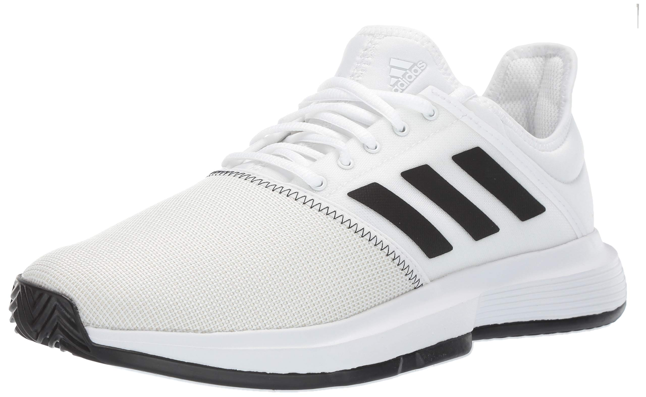 adidas Men's Gamecourt, White/Black/Grey 6.5 M US by adidas (Image #1)