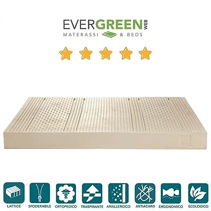 EVERGREENWEB MATERASSI & BEDS Energy Milk Materasso 100% Lattice ...