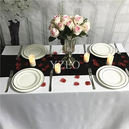 YZEO Centro de mesa con lentejuelas para bodas, fiestas ...