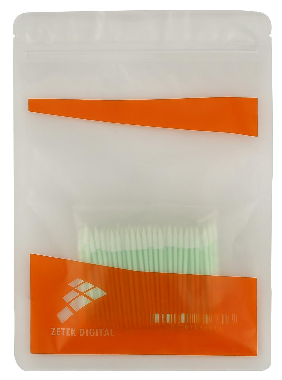Zetek Spiral 100pcs Foam Tip Cleaning Swabs Sponge Stick for Inkjet Printer Optical Equipment /… /… Camera Automotive Detailing Printhead Cleanroom Gun Optical Lens