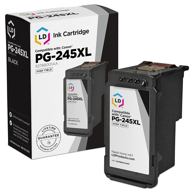 Ld Remanufactured Canon Pg 245xl 8278b001aa Hy Black Ink Wiring Diagram Cannon Mx459 Fax Cartridge For Pixma Ip2820 Mg2420 Mg2520 Mg2522 Mg2525 Mg2555 Mg2920 Mg2922