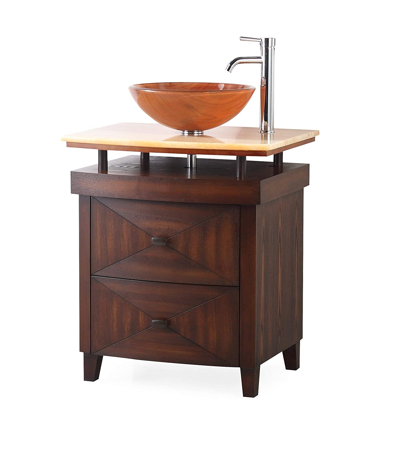 28 Onyx Counter Top Verdana Jr. Bathroom Sink Vanity – Faucet vessel all inclusive SW029