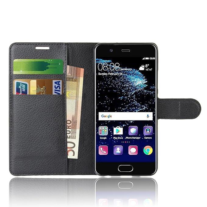 1 opinioni per Huawei P10 Custodia , Anzhao Flip Cover Portafoglio con Slot per Schede