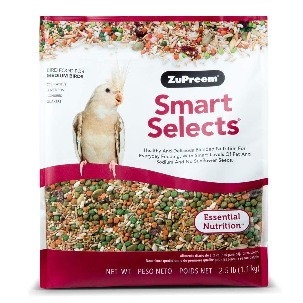 ZuPreem Smart Selects Daily Bird Food for Cockatiels & Lovebirds 5.0 LB by ZuPreem