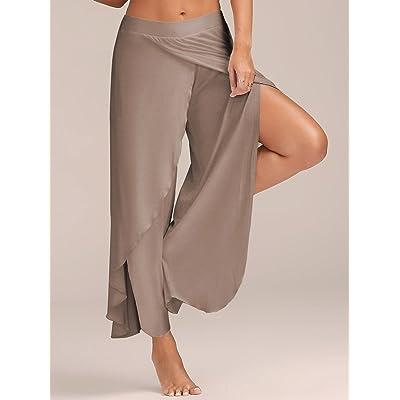 MAYUAN520 L'été des femmes jambe large élastique taille haute Quick Dry respirant exécutant le Yoga Fitness Pantalon Grande taille 3XL-4XL