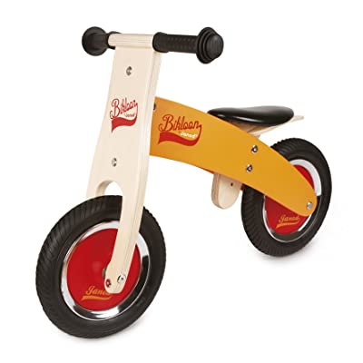 Janod J03263 My First Little Bikloon Wooden Balance Bike, Orange/Red: Toys & Games