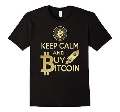 Mens Keep Calm And Buy Bitcoin T Shirt 2XL Black