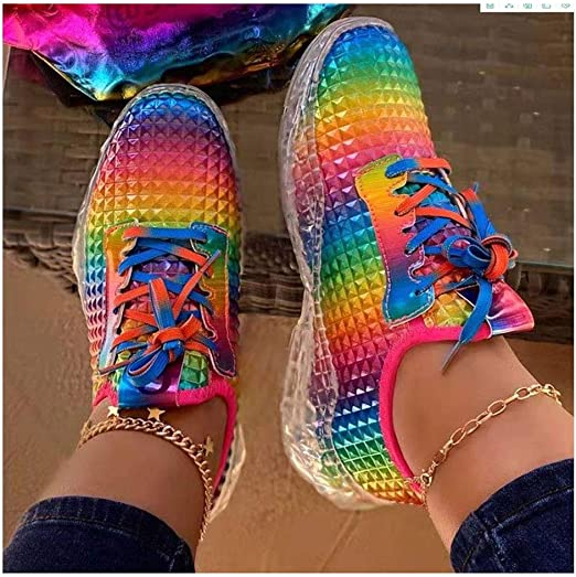 2020 New Women Shoes Rainbow Sneakers
