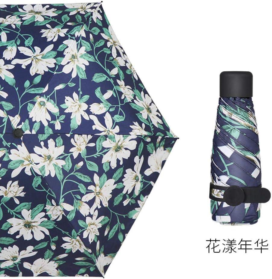 YSCY Portable/Umbrella Umbrella Anti-UV Mini Ultra-Light Sun Umbrella Sunscreen Dual-use Pocket Umbrella rain and Small Compact UV/Protection,Rust/Prevention,Wind/Protection.