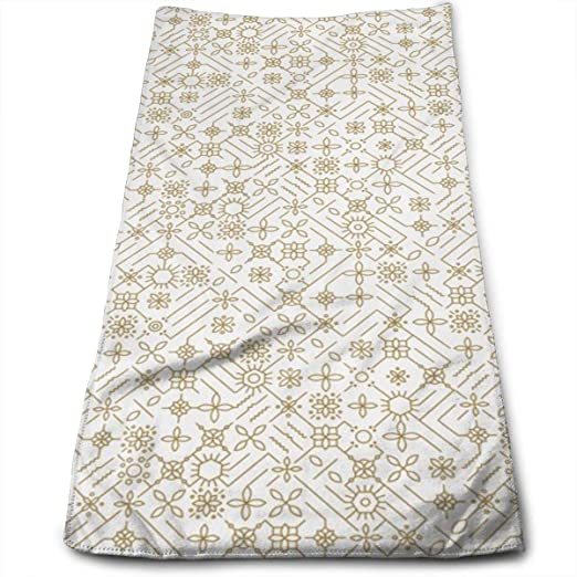 Kaixin J Golden Kitchen_8978 Microfiber Bath Towels,Soft ...