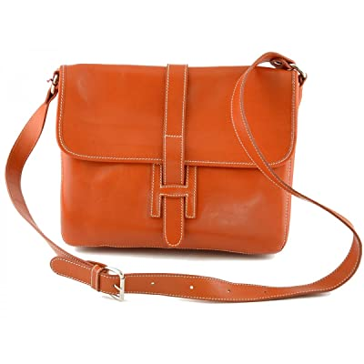 Dream Leather Bags Made in Italy Genuine Leather Man Leather Bag Color  Orange 80%OFF bd42c2f5fa035