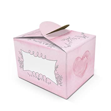 100 Kleine Mini de regalo de cajas de cajas de caja de bombones en rosa de