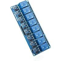 ELEGOO Module Relais 5V DC 8 Canaux avec Optocoupleur 8-Channel Relay Module pour Arduino UNO R3 Mega 2560 1280 DSP Arm PIC AVR STM32 Raspberry Pi