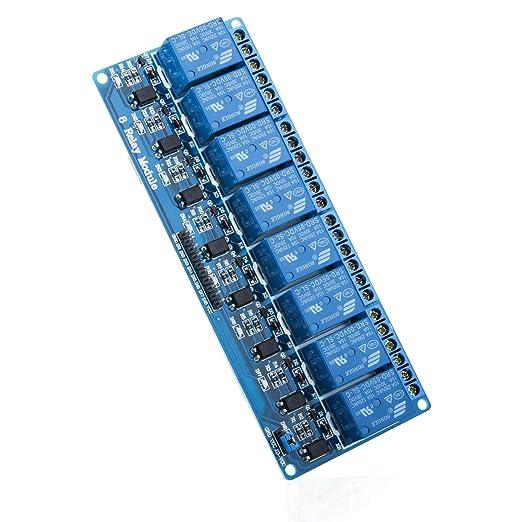 4 opinioni per Elegoo 8 Channel DC 5V Modulo Relay con Accoppiatore Ottico per Arduino UNO R3