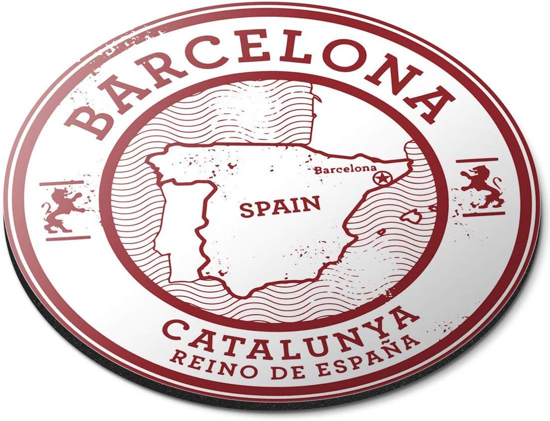 Alfombrilla de ratón Redonda – Barcelona Catalunya España Mapa Espana Oficina Regalo – RM5723: Amazon.es: Electrónica