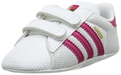 new arrival 27a77 09294 Adidas Unisex Babies  Superstar Crib Gymnastics Shoes, White (Ftwr White Bold  Pink