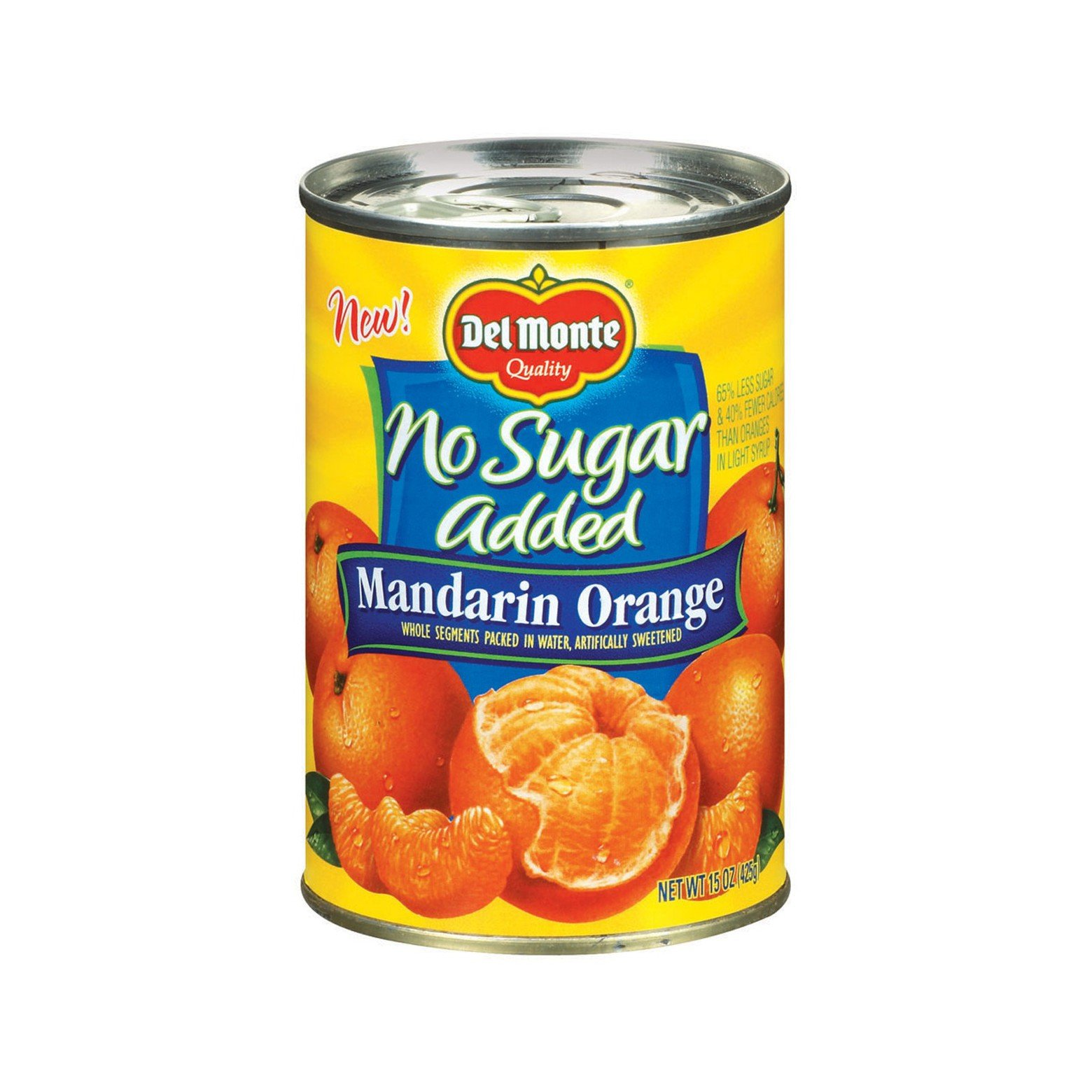 Del Monte No Sugar Added Mandarin Oranges in Water 15 oz (3 Pack)