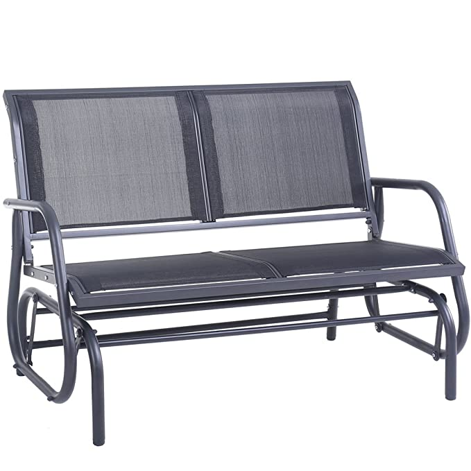 SUPERJARE Outdoor Swing Glider Chair – The Swing Glider Outdoor Bench