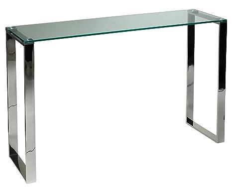 Amazon.com: Remi Collection - Mesa de cristal contemporánea ...