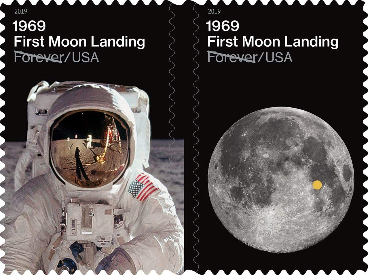 2019 1969 50th Anniversary of the Moon Landing Forever Sheet of 24 Stamps Scott 5399-5400