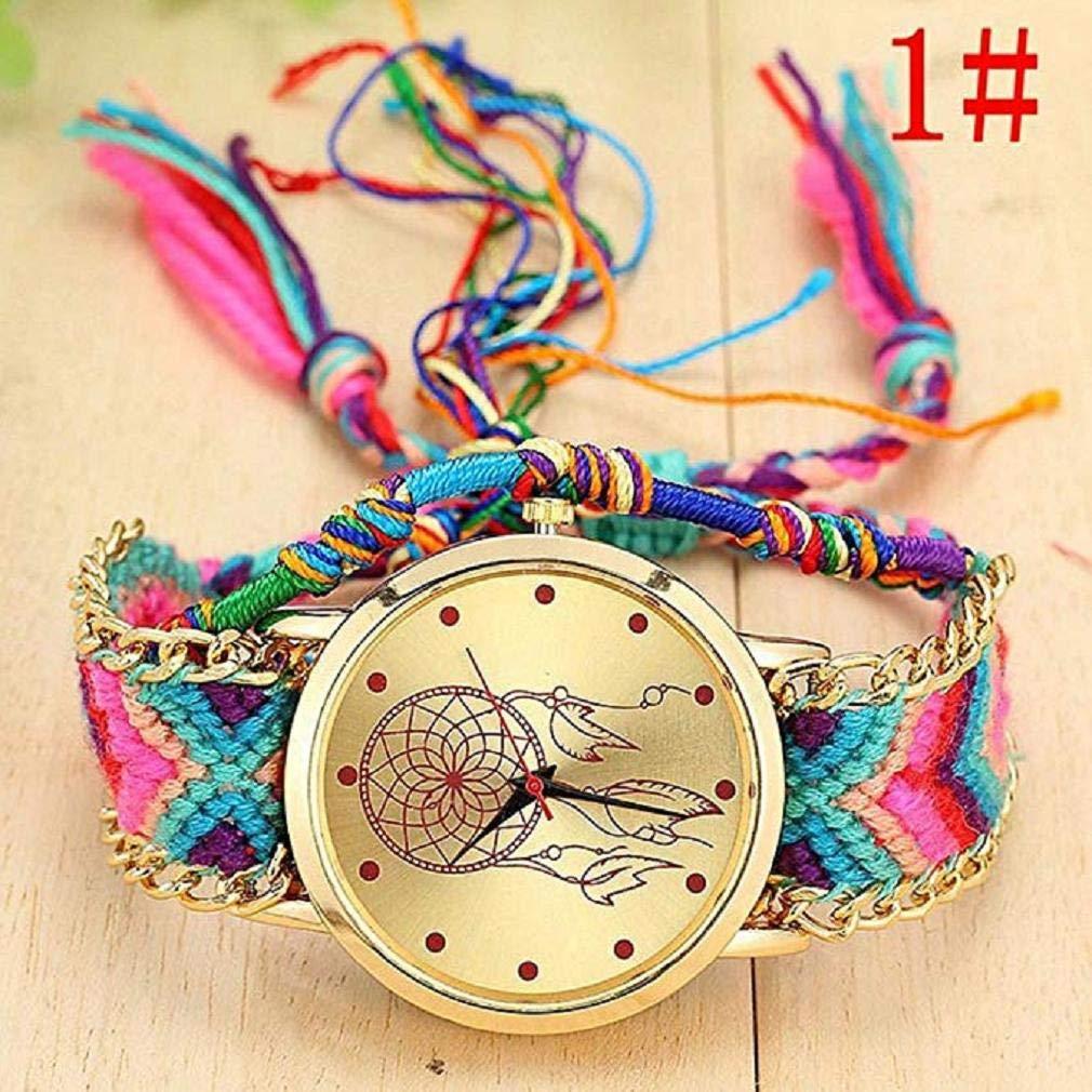 Fashion Clearance! Noopvan Women Girl vansvar Watch,Native Handmade Ladies Vintage Quartz Watch Dreamcatcher Friendship Watches (A) by Noopvan Strap (Image #2)