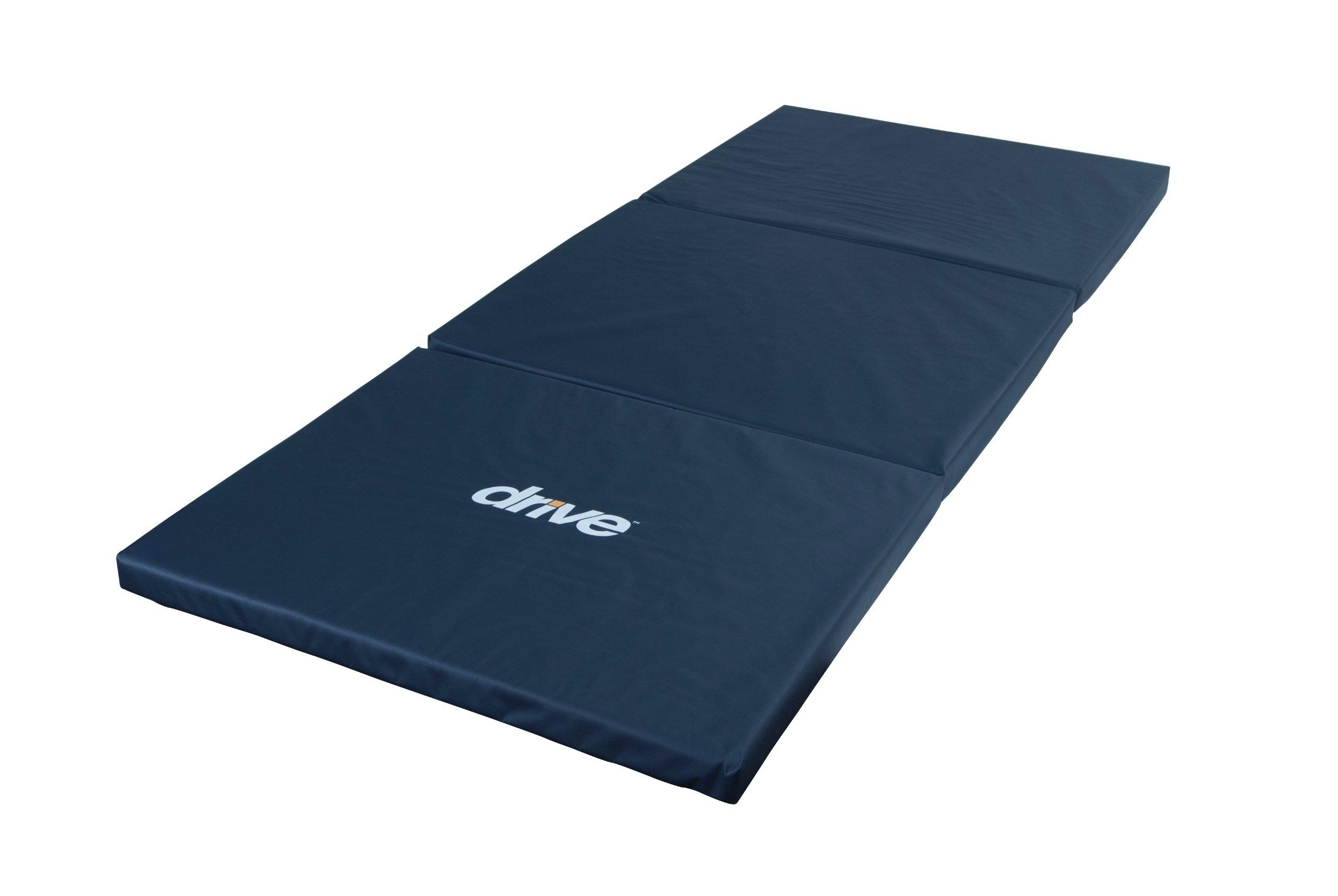 Drive Medical Tri-Fold Bedside Mat, Blue by Drive Medical