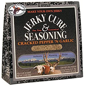 Hi Mountain Jerky Seasoning – Cracked Pepper 'n Garlic Blend – 7.2 Ounces