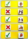 Plastic Visual ASD Interactive Behavior Rules Board (Picture Communication Symbols)