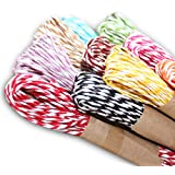 G2PLUS Raffia Stripes Paper String For DIY Making,120 Yards (12 Colors)